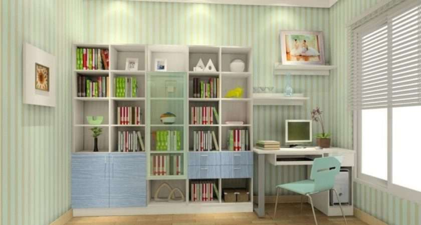 Pale Green Curtains Study Room House