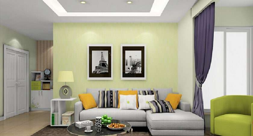 Pale Green Wall Living Room Interior Design