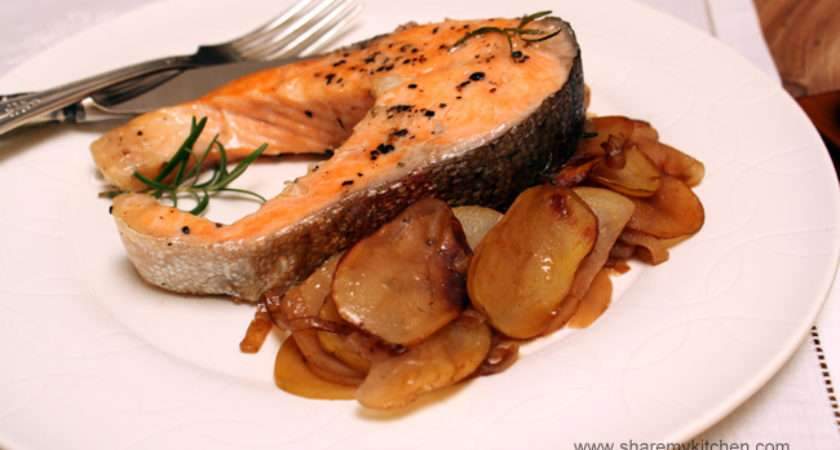 Pan Fried Salmon Trout Pommes Boulang World Food
