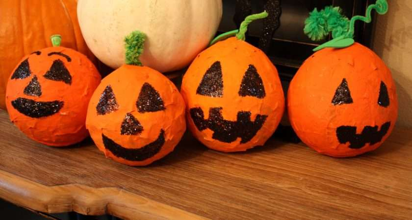 Paper Mache Pumpkins Fun Education Kids Pinterest