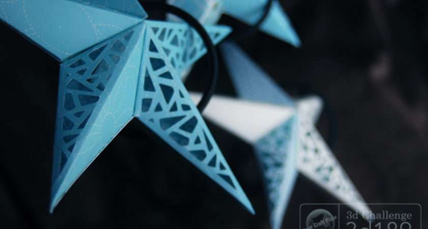 Paper Star Tutorial Tethered Christmas Craft