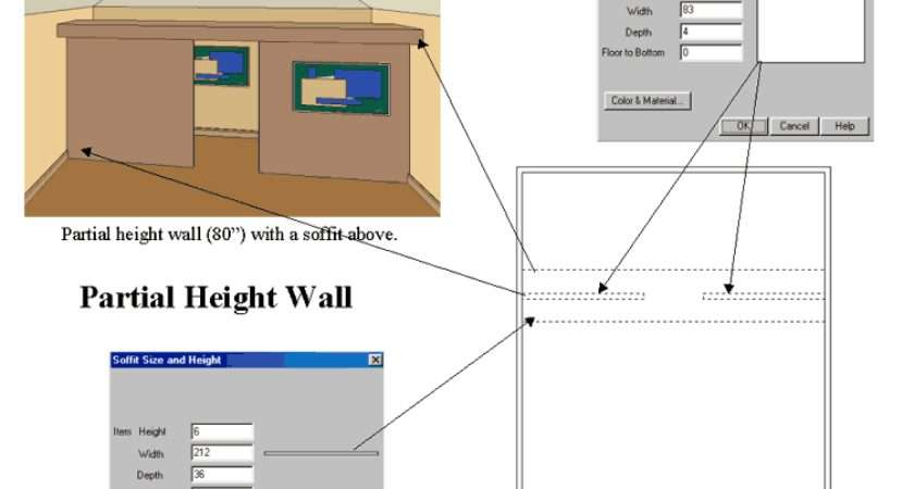 Partial Height Wall Create Standing