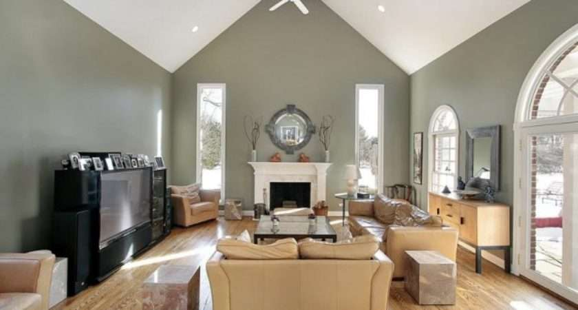 Parties Crown Molding Vaulted Ceilings Ideas Living Room Decor