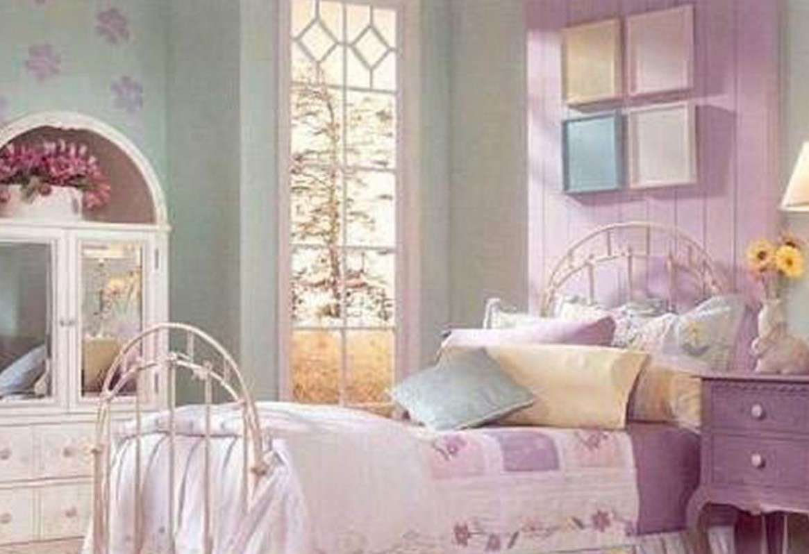 Pastoral Style Lilac Bedroom