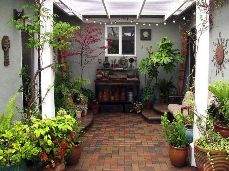 Patio Design Small Spaces Courtyard Garden Makes