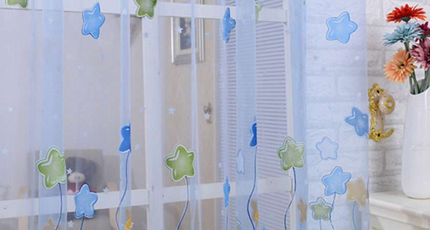 Pcs New Tulle Voile Sheer Curtains Kids Girls Bedroom