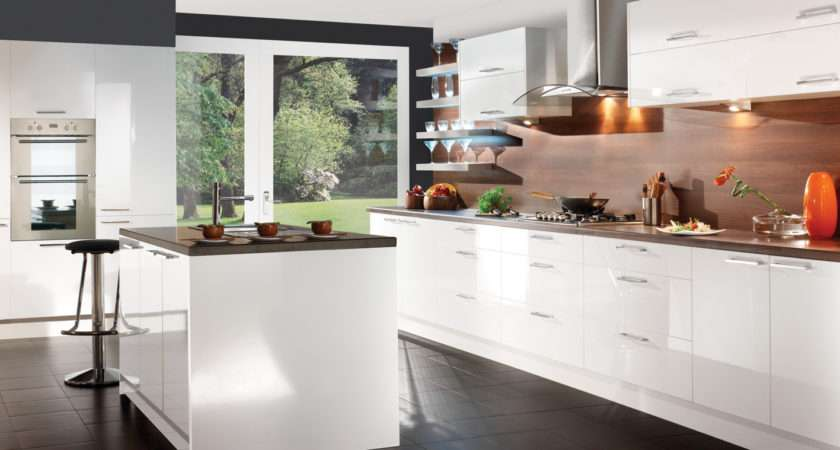 Perfect White Gloss Kitchen Cabinets Jpeg