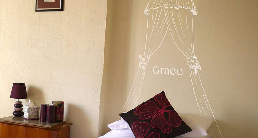 Personalised Princess Bed Canopy Wall Sticker Contemporary