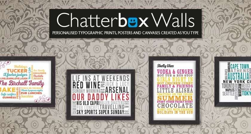 Personalised Prints Posters Canvases Bespoke Word Art Wall