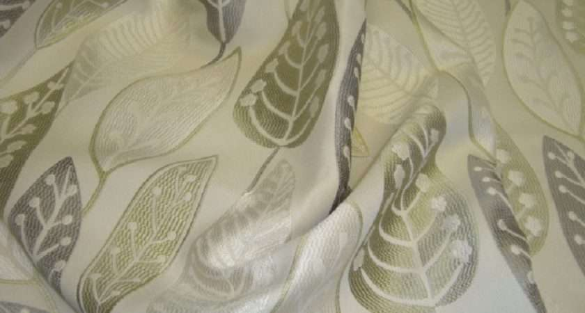 Peter Lees Curtain Fabric Coco Green