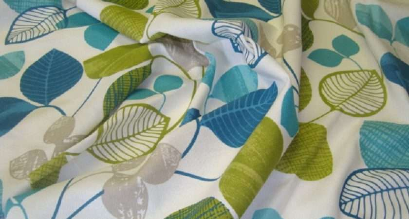 Peter Lees Curtain Fabric Saterno Blue Lime