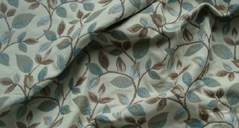 Peter Lees Wychwood Curtain Fabric Pale Blue Rrp