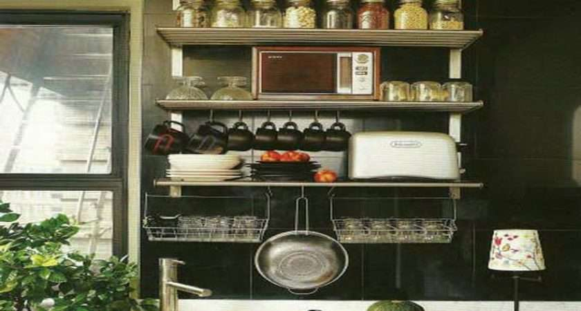 Photography Above Segment Awesome Kitchen Wall Shelving Ideas
