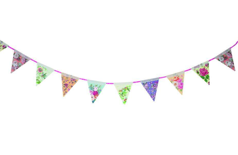 Pics Photos Bunting Banner Template