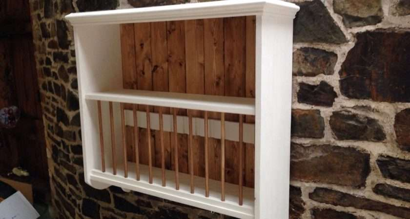 Pine Wall Mounted Wooden Plate Rack Shelf Any Colour Finish Ebay