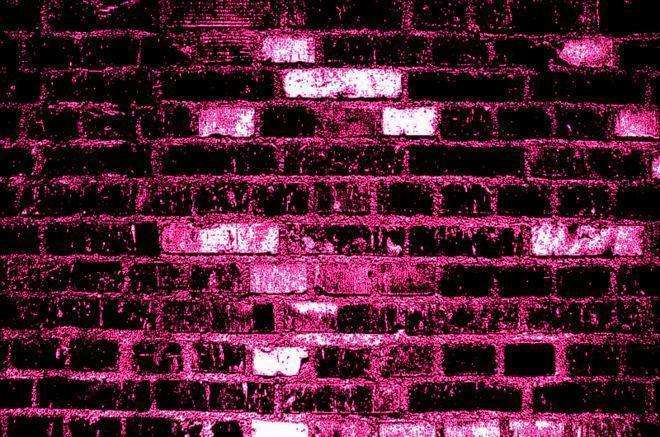 Pink Black Walls Wide