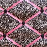 Pink Brown Leopard Print Unique Cheetah Wall Decor