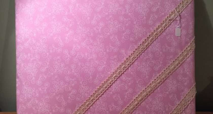 Pink Fabric Notice Board