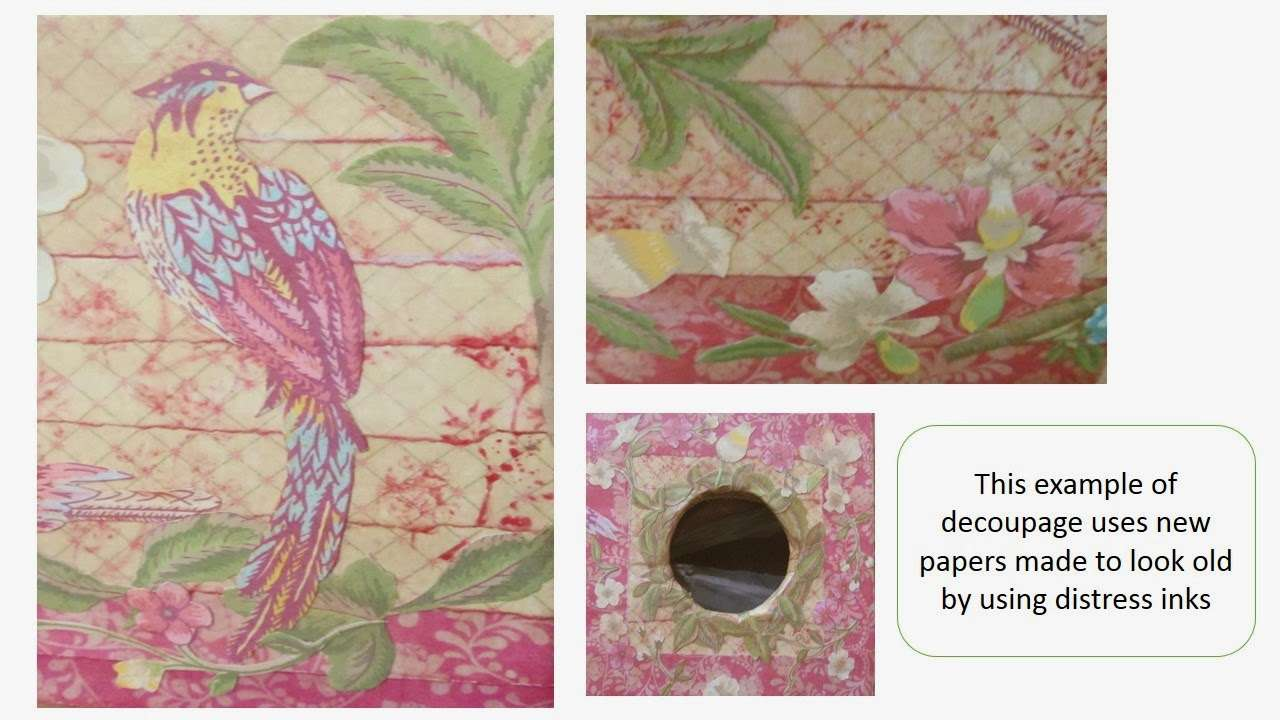 Pink Flamingo Handcrafting Ideas Decoupage
