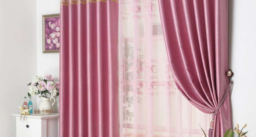 Pink Floral Window Curtains Design May Satisfy