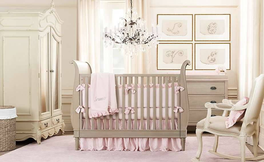 Pink Girl Nursery Idea Besides Right Side
