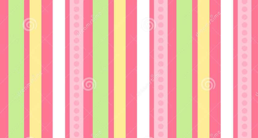 Pink Green Stripes Seamless Vector