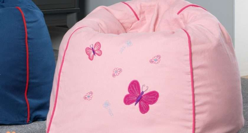 Pink Kids Bean Bag Character Bags Cotton