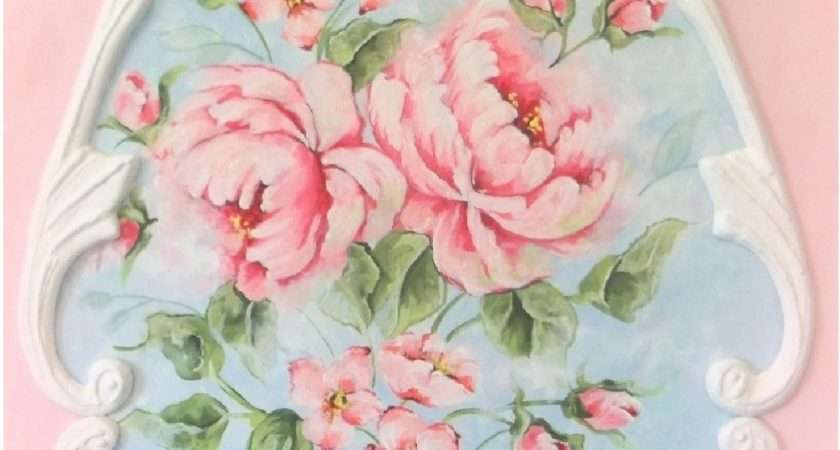 Pink Roses Home Decor Shabby Chic Floral Royalrococo