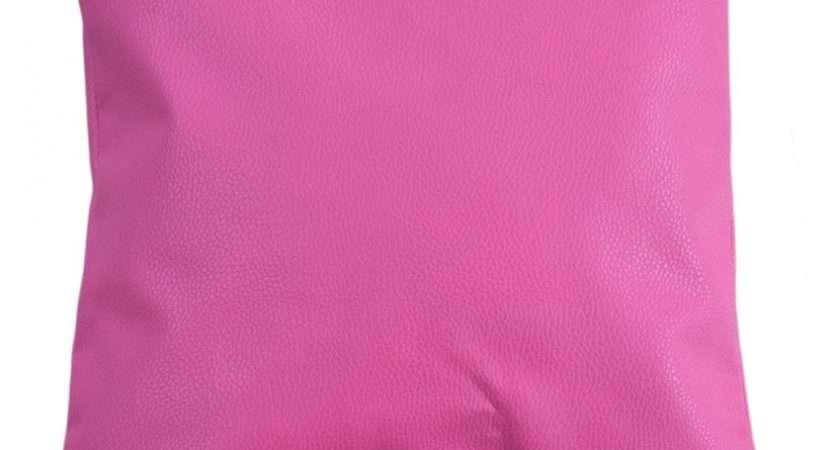 Pink Solid Sofa Leatherette Cushion Covers