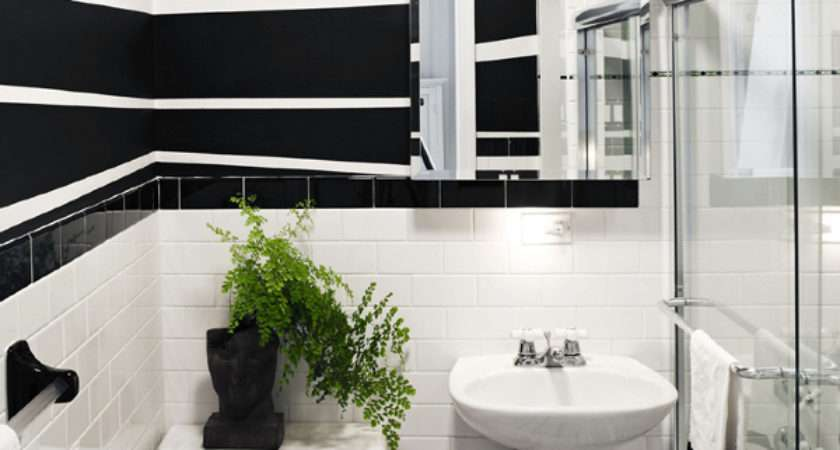 Pinterio Black White Small Bathroom