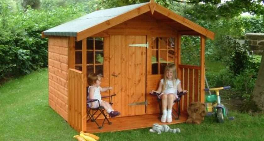 Play House Childrens Wooden Houses Garden