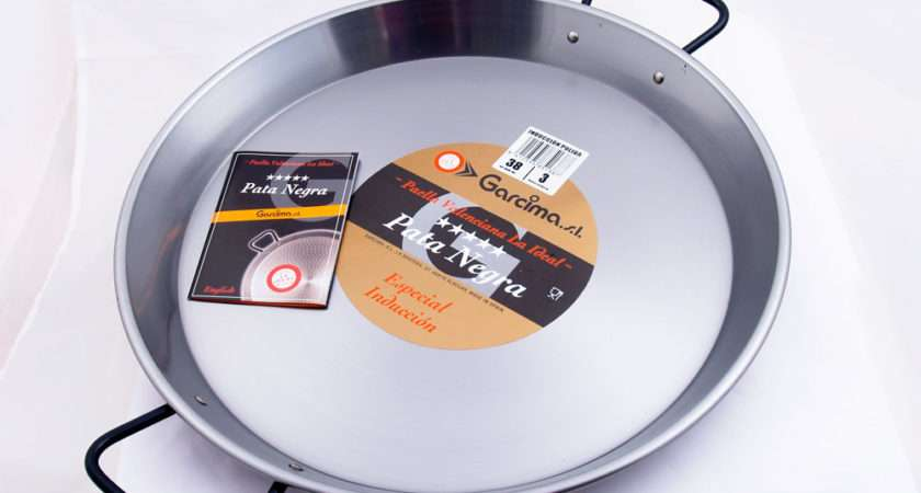 Polished Steel Paella Pan Ceramic Induction Aga Hobs