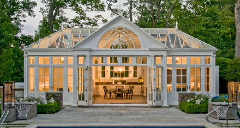 Pool House Conservatory Kitchen Traditional