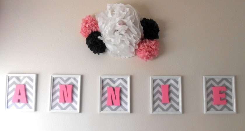 Pop Putting Wooden Letters Frames Baby Name Wall Art