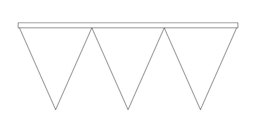 Printable Pennant Banner Template Triangle Templates