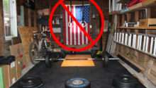 Proper Hanging American Flag Gym Garage