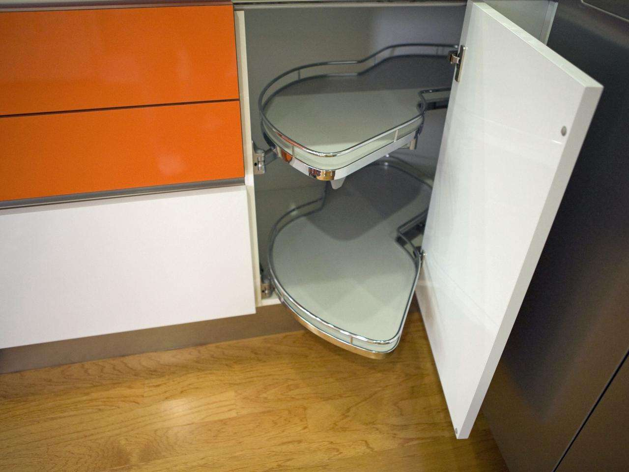 Pull Out Corner Cabinet Contemporary Kitchen Hgtv