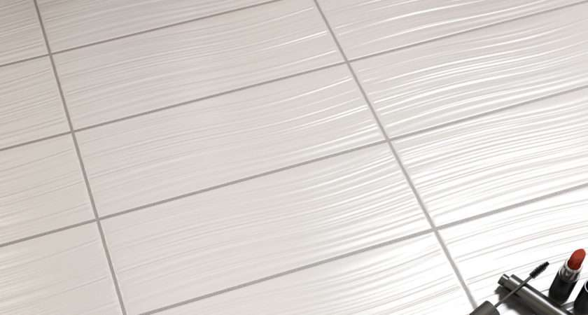 Pure White Textured Wall Tile Tiles Bathrooms