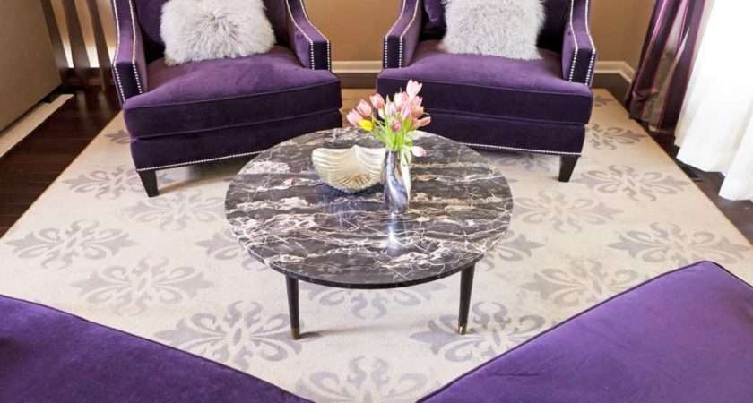 Purple Accent Chairs Living Room Ideas Round Table
