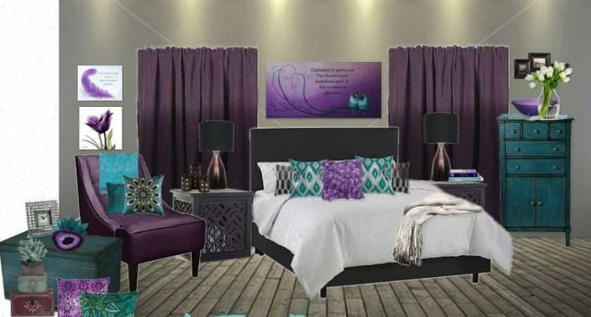 Purple Gray Bedroom Personalized Canvas Quote