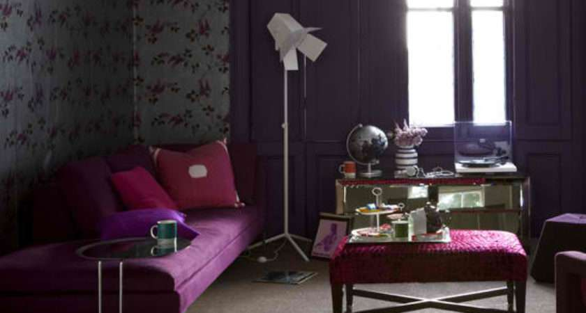 Purple Living Rooms Decoholic
