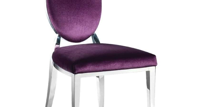 Purple Oval Back Dining Chair Contemporary Upholstered