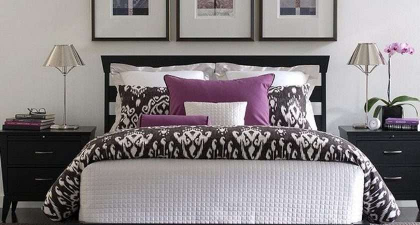 Purple White Bedroom Your Home Decorating Ideas