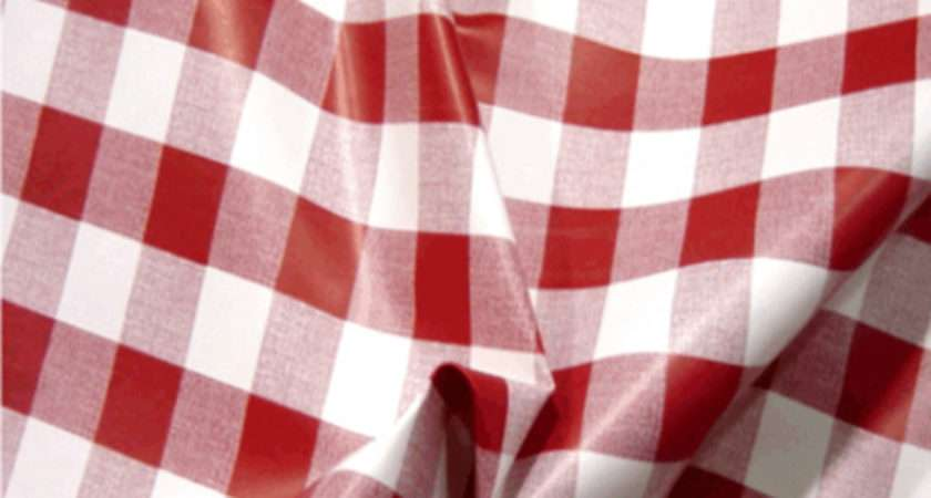 Pvc Table Cloth Cafe Check Inch Fabric