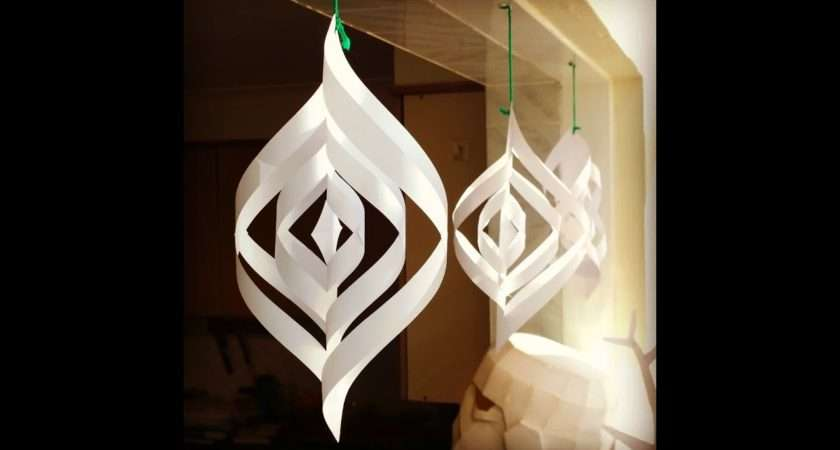 Quick Easy Paper Christmas Decorations Youtube