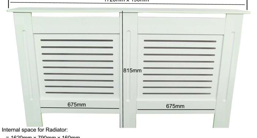 Radiator Cover Cabinet White Mdf Modern Design Extra Large