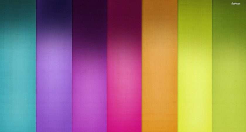 Rainbow Stripes Abstract