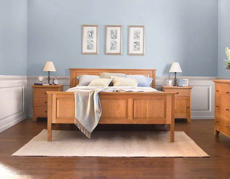 Raised Panel Bed Made Shaker Style Beds Bedroom Furniture
