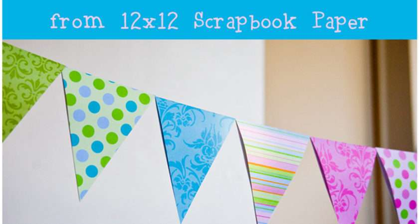 Raising Memories Diy Paper Triangle Bunting Tutorial