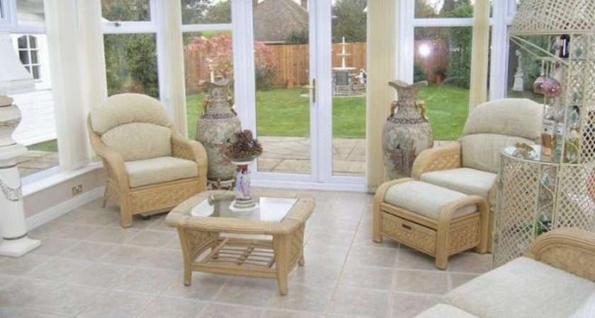 Rattan Conservatory Floor Tiles Flooring French Doors Tiled